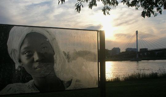 Durch andere Augen sehen. Installation in Kehl am Rhein