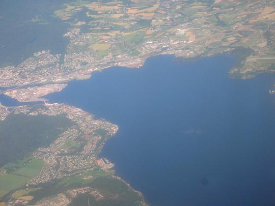 Blick auf Norwegen aus dem Flugzeug (2015)