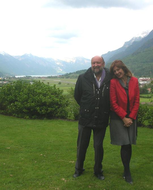 Peter Michel, Aquamarin- und Crotona-Verleger, mit seiner Frau Katarina