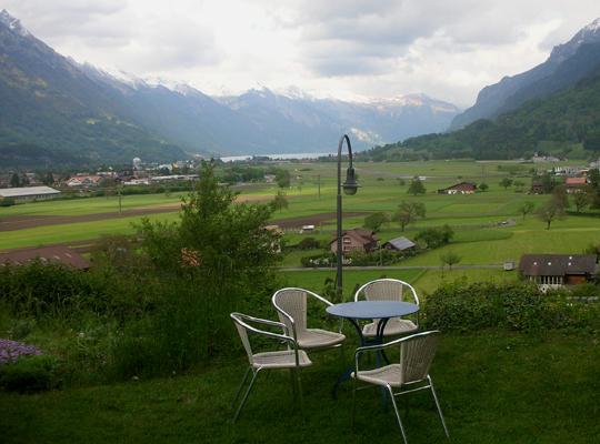 Garten der Villa Unspunnen, Ort der Konferenz
