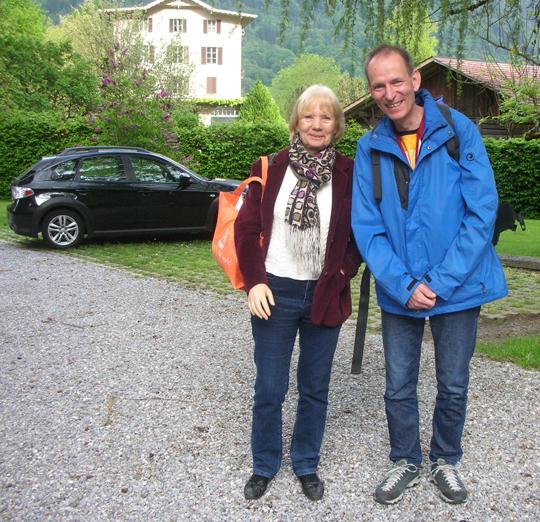 """Urte und Martin Frischknecht, Chefredakteur der Zeitschrift """"Spuren"""" in Winterthur und Verleger"""