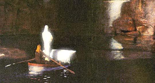 Die Toteninsel (Ausschnitt) von Arnold Böcklin (1827-1901)