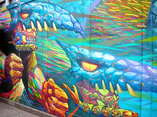 Sex mit all seinen Freuden une Gefahren: Graffiti im Londoner East End