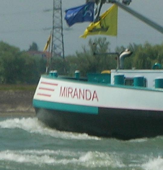 "Miranda; ich nannte dann in meinem Veresepos ein Medium ""Miranda Graciosa de Campos"""