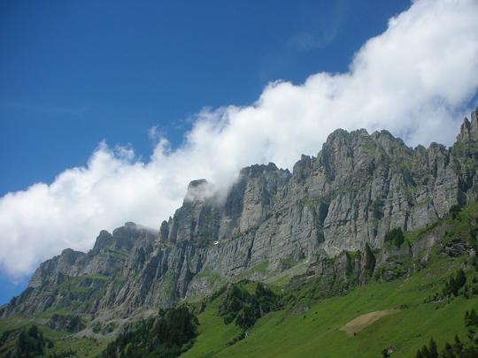 Zwei Tage später die richtig heißen Felsen im Kanton Glarus