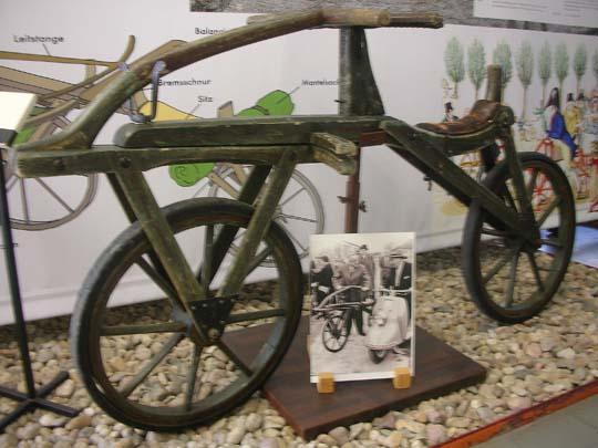Das Laufrad im Verkehrsmuseum Karlsruhe
