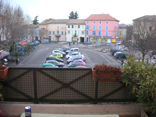 Der Blick auf den Platz