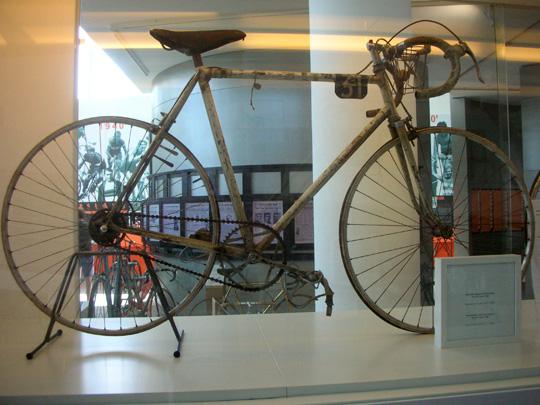 Ein Rad um 1960, benutzt beim Giro d'Italia