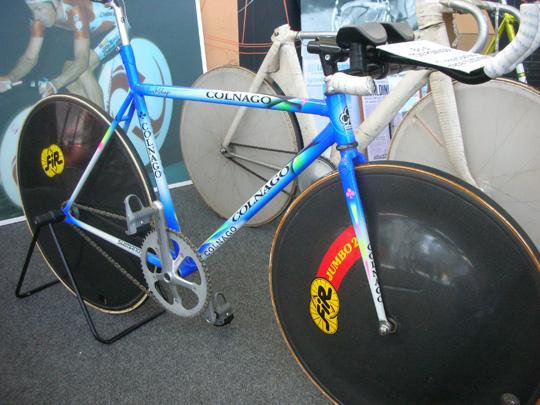 Mit diesem Rad fuhr Tony Rominger 1992 einen Stundenweltrekord heraus