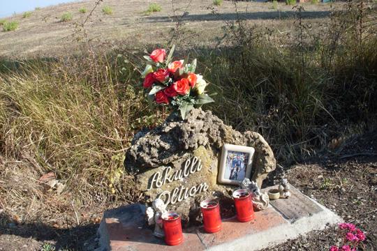 Monument für einen gestorbenen Radler.