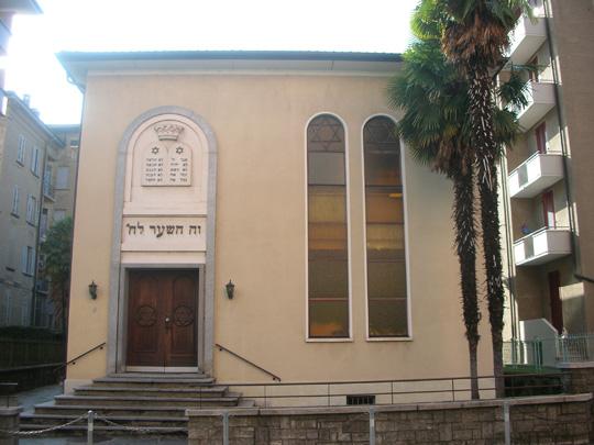 Die Synagoge von Lugano. Blieb stehen.