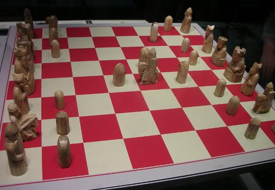 Altes Schachspiel im British Museum in London