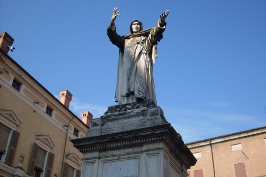 Und in Mantua: Savonarola, der Bußprediger, der von 1494 bis 1498 Florenz regierte