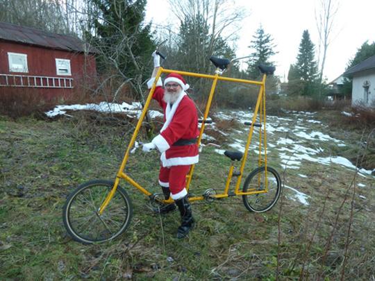 ... und Jan Paulsen als Weihnachtsmann im fernen Drammen bei Oslo schließt sich den Wünschen an!