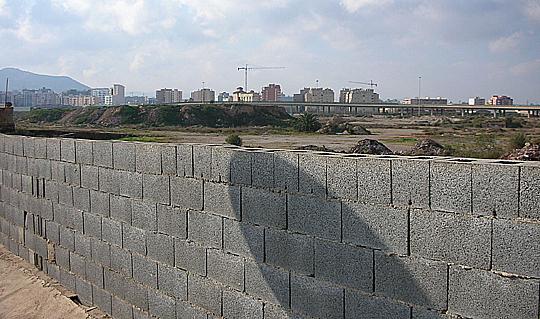 Eine Mauer vor Cartagena (Andalusien)