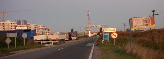 Timisoara oder Temeschwar, Ortseingang
