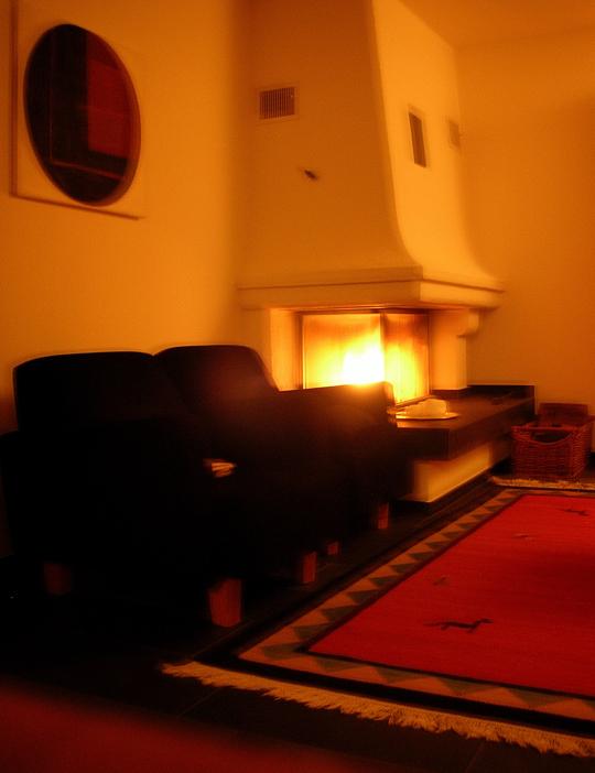 Echtes Feuer, echte Wärme: unser Wohnzimmer in St. Gallen, früher