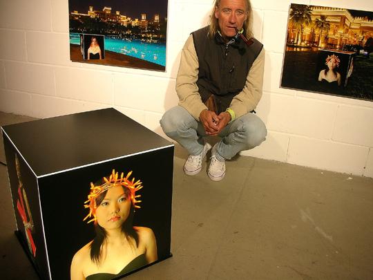 Gefangen in Atmosphäre. IN einer Licht-AUsstellung in Offenbach (2010)