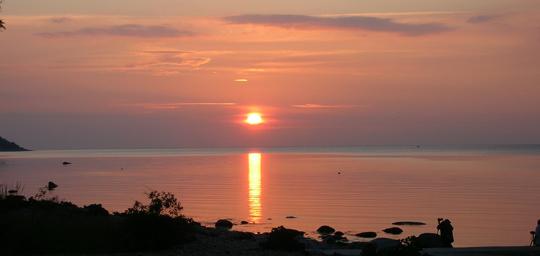Sonnenuntergang in Südschweden, fotografiert im Juni 2010