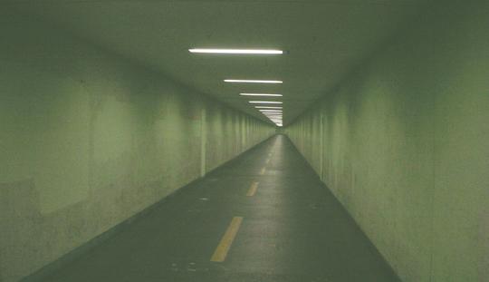 Radtunnel, nach Antwerpen, glaube ich