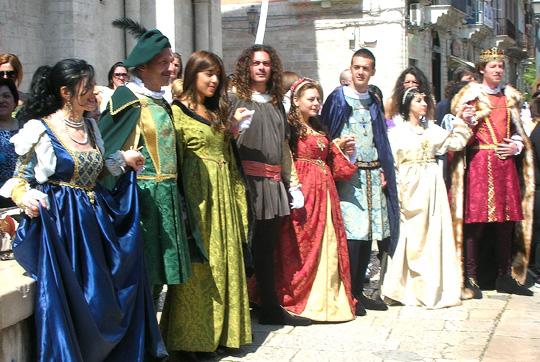 Darsteller eines Historienspiels in Barletta (2011)