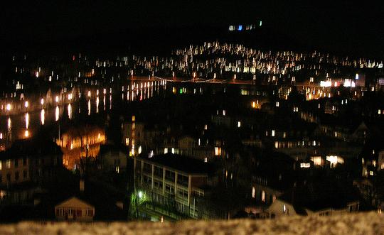 Blick von Bern auf die Aare