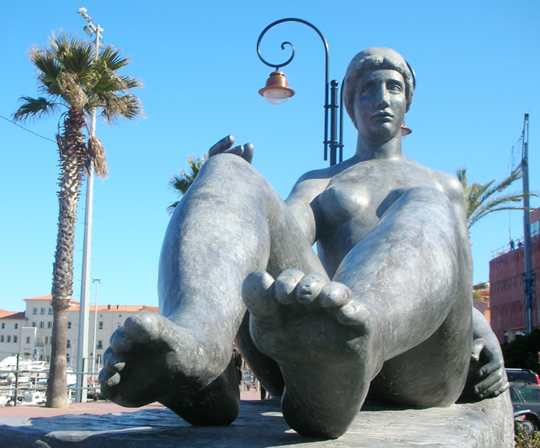 Skulptur in Collioures, Frankreich