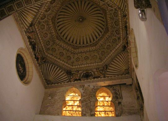 Die alte Synagoge von Toledo; Blick nach oben (2012)
