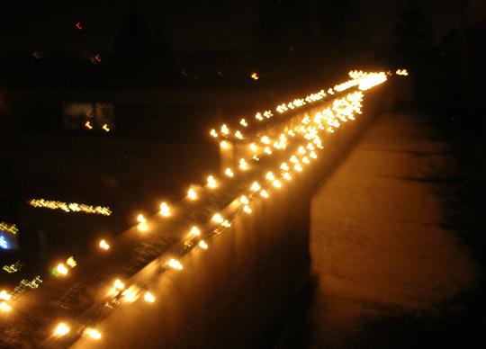 Die Lichterkette draußen ... dieses Jahr aber fehlt sie