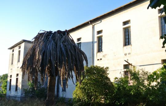 """Das ehemalige psychiatrische Krankenhaus Rizzeddu (Sassari, Sardinien). Von der Seite sardegnaabbandonata.it. Vor 40 Jahren wurden durch das Basaglia -Gesetz in Italien die """"Irrenhäuser"""" geschlossen."""