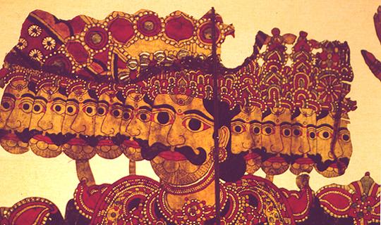 Darstellung aus dem Maskenmuseum Ambalangoda (Sri Lanka, 2005)