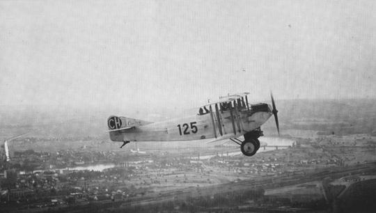 Die Caudron C 59 bot zwischen den Jahren 1924 und 1936 Rundflüge über Basel an.