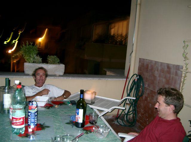 So war's am Abend auf der Terrasse, vor 20 Jahren