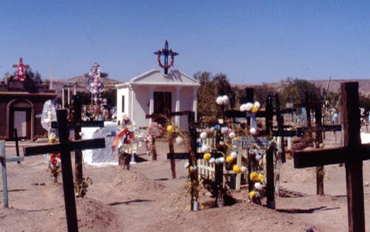 Wieder der chilenische Friedhof, das war in der Wüste