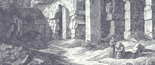 Auszug aus Nel Colosseo von Johann Christian Reinhart (1761-1847)