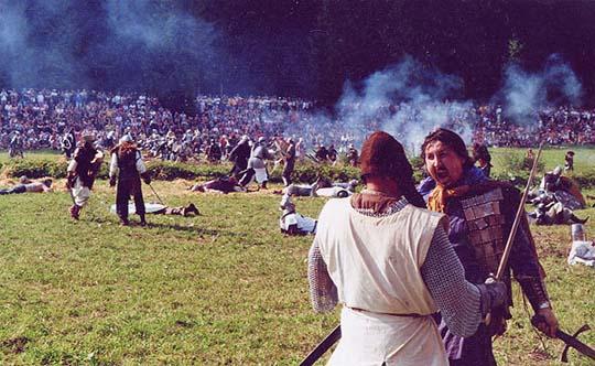 Ritterschlacht: Konrad Federl rastet aus
