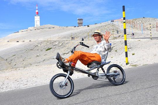 Anmut und Lässigkeit: Flux-Konstrukteur Christian Mischner am Mont Ventoux