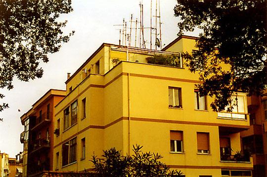 Ein Haus in Rom, Viale dei Colli Portuensi 215; unsere Terrasse war oben